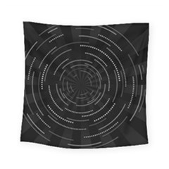 Abstract Black White Geometric Arcs Triangles Wicker Structural Texture Hole Circle Square Tapestry (small) by Mariart