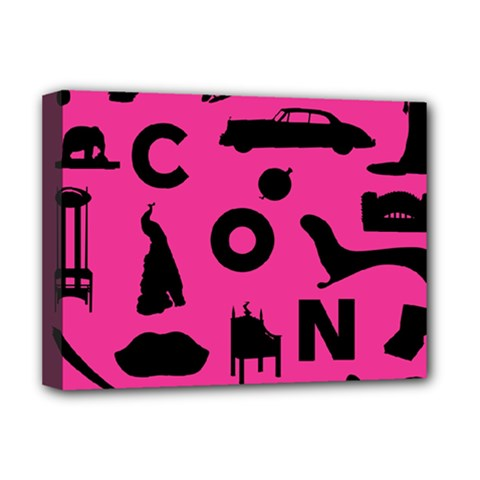 Car Plan Pinkcover Outside Deluxe Canvas 16  X 12   by Mariart