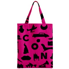 Car Plan Pinkcover Outside Zipper Classic Tote Bag by Mariart