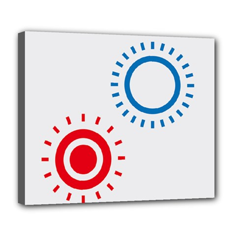 Color Light Effect Control Mode Circle Red Blue Deluxe Canvas 24  X 20   by Mariart