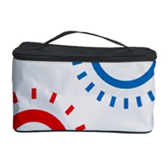 Color Light Effect Control Mode Circle Red Blue Cosmetic Storage Case by Mariart