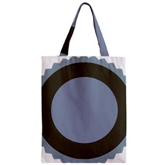 Circle Round Grey Blue Zipper Classic Tote Bag by Mariart