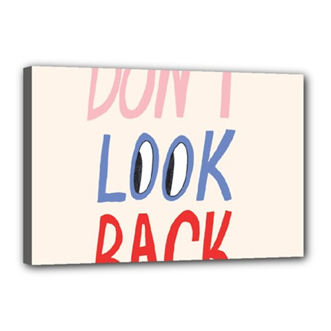 Don t Look Back Big Eye Pink Red Blue Sexy Canvas 18  X 12  by Mariart