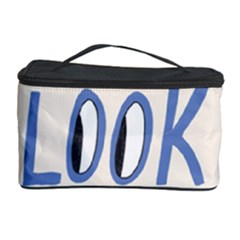 Don t Look Back Big Eye Pink Red Blue Sexy Cosmetic Storage Case by Mariart