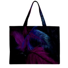 Feathers Quill Pink Black Blue Zipper Mini Tote Bag by Mariart