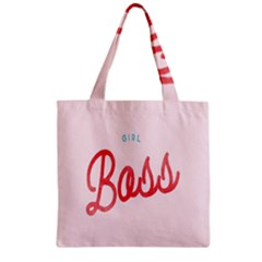 Girl Boss Pink Red Blue Sexy Zipper Grocery Tote Bag by Mariart
