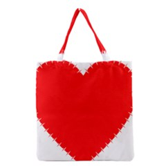 Heart Rhythm Inner Red Grocery Tote Bag by Mariart