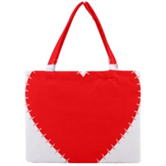 Heart Rhythm Inner Red Mini Tote Bag by Mariart