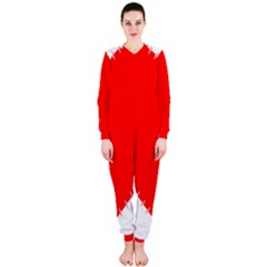 Heart Rhythm Inner Red Onepiece Jumpsuit (ladies)  by Mariart