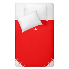 Heart Rhythm Inner Red Duvet Cover Double Side (single Size) by Mariart