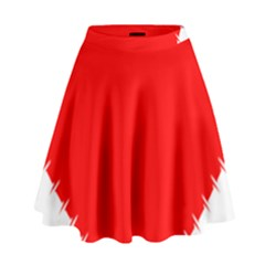 Heart Rhythm Inner Red High Waist Skirt by Mariart