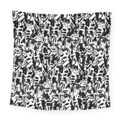 Deskjet Ink Splatter Black Spot Square Tapestry (large) by Mariart
