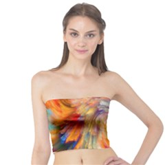 Rainbow Color Splash Tube Top by Mariart