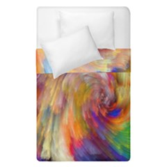 Rainbow Color Splash Duvet Cover Double Side (single Size) by Mariart