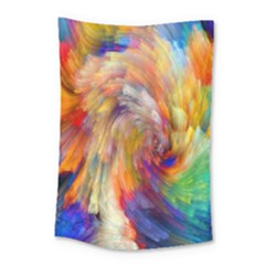 Rainbow Color Splash Small Tapestry by Mariart