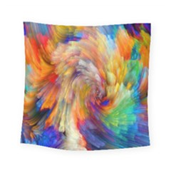 Rainbow Color Splash Square Tapestry (small) by Mariart