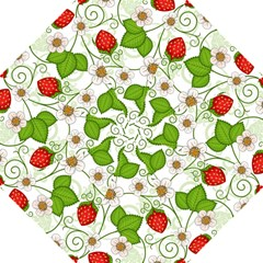 Strawberry Fruit Leaf Flower Floral Star Green Red White Golf Umbrellas by Mariart