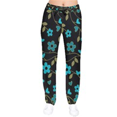 Floral Pattern Drawstring Pants by Valentinaart