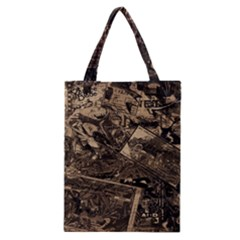 Vintage Newspaper  Classic Tote Bag by Valentinaart