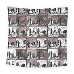 Comic Book  Square Tapestry (large) by Valentinaart