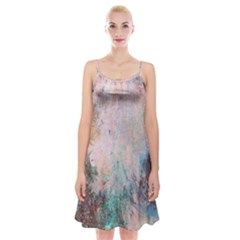 Cold Stone Abstract Spaghetti Strap Velvet Dress by digitaldivadesigns