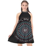 Twenty One Pilots Halter Neckline Chiffon Dress