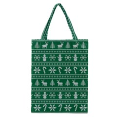 Ugly Christmas Classic Tote Bag by Onesevenart