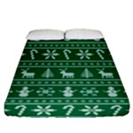 Ugly Christmas Fitted Sheet (Queen Size)