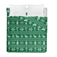 Ugly Christmas Duvet Cover Double Side (full/ Double Size) by Onesevenart