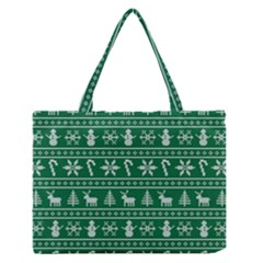 Ugly Christmas Medium Zipper Tote Bag by Onesevenart