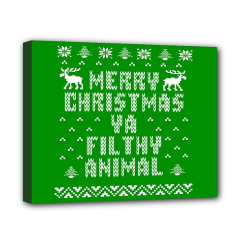 Ugly Christmas Sweater Canvas 10  X 8  by Onesevenart