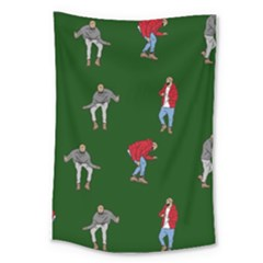 Drake Ugly Holiday Christmas Large Tapestry by Onesevenart