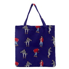 Drake Ugly Holiday Christmas Grocery Tote Bag by Onesevenart