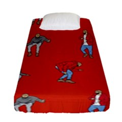 Drake Ugly Holiday Christmas Fitted Sheet (single Size) by Onesevenart