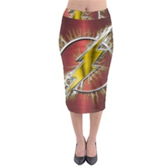 Flash Flashy Logo Midi Pencil Skirt by Onesevenart