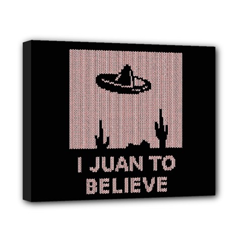 I Juan To Believe Ugly Holiday Christmas Black Background Canvas 10  X 8  by Onesevenart