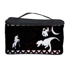 I Wasn t Good This Year, I Was Awesome! Ugly Holiday Christmas Black Background Cosmetic Storage Case by Onesevenart