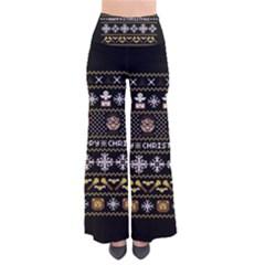 Merry Nerdmas! Ugly Christma Black Background Pants by Onesevenart