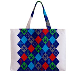 Minecraft Ugly Holiday Christmas Zipper Mini Tote Bag by Onesevenart
