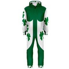 Ireland National Rugby Union Flag Hooded Jumpsuit (Men)