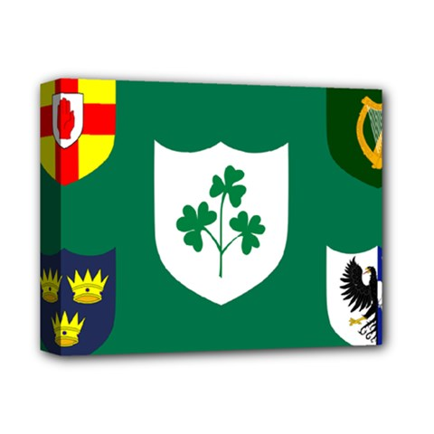 Ireland National Rugby Union Flag Deluxe Canvas 14  X 11  by abbeyz71