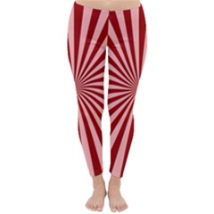 Sun Background Optics Channel Red Classic Winter Leggings by Vayuart
