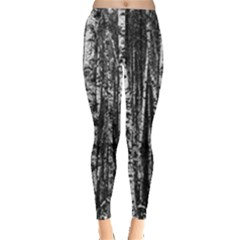 Birch Forest Trees Wood Natural Leggings  by Vayuart