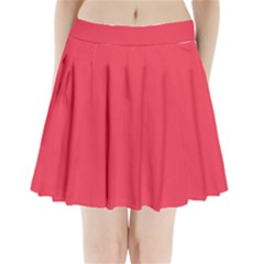 Neon Color   Brilliant Amaranth Pleated Mini Skirt by tarastyle
