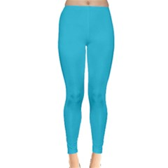 Neon Color   Brilliant Arctic Blue Leggings  by tarastyle