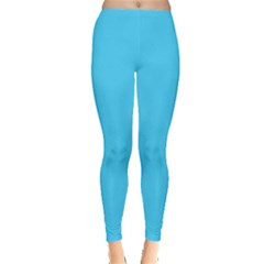 Neon Color   Brilliant Cerulean Leggings  by tarastyle