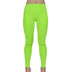 Neon Color   Brilliant Charteuse Green Classic Yoga Leggings by tarastyle