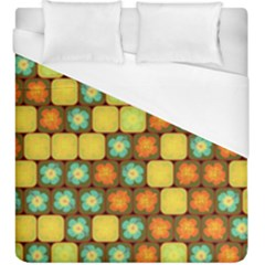 Random Hibiscus Pattern Duvet Cover (king Size) by linceazul