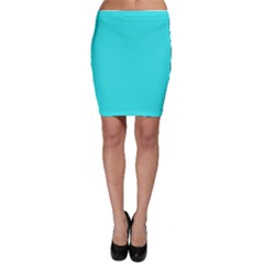 Neon Color   Brilliant Cyan Bodycon Skirt by tarastyle