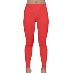Neon Color   Brilliant Red Classic Yoga Leggings by tarastyle